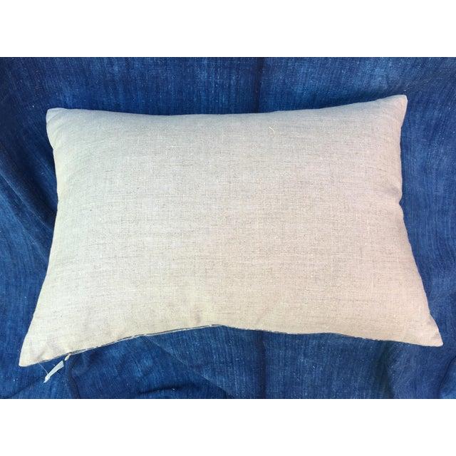 Gray Chinese Warrior Batik Pillow - Image 8 of 8