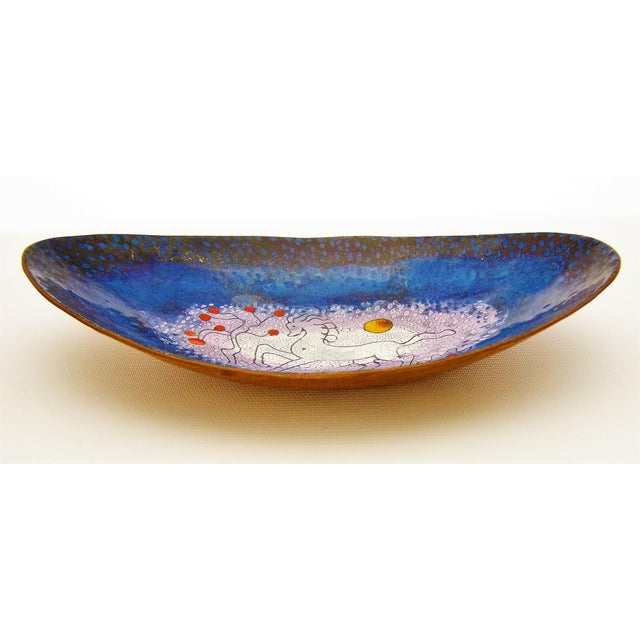 Mid-Century Modern Enamel & Copper Dish by Lopez Rodezno - Image 4 of 11