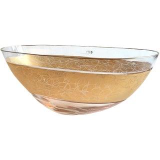 Cenedes & Albarelli Murano Gold Trimmed Bowl