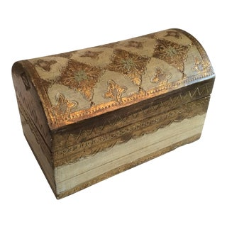 Vintage Florentine Arched Box