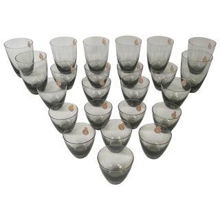 Holmegaard Danish Modern Complete Set of Glasses - 24