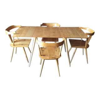 Paul McCobb 1950's Refinished Solid Maple Planner Group Dining Set