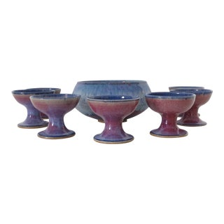 Studio Ceramic Punch Bowl Set - Set of 8