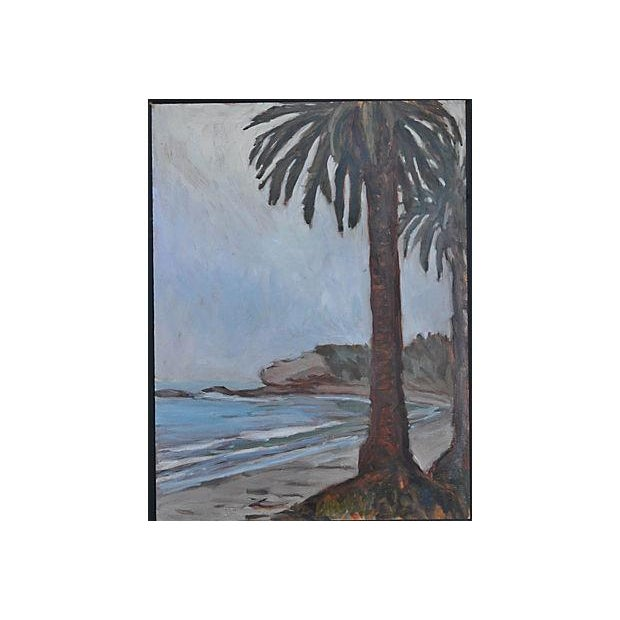 Oil Painting on Board - Refugio Beach Study - Image 2 of 2