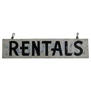 Vintage Rentals Sign