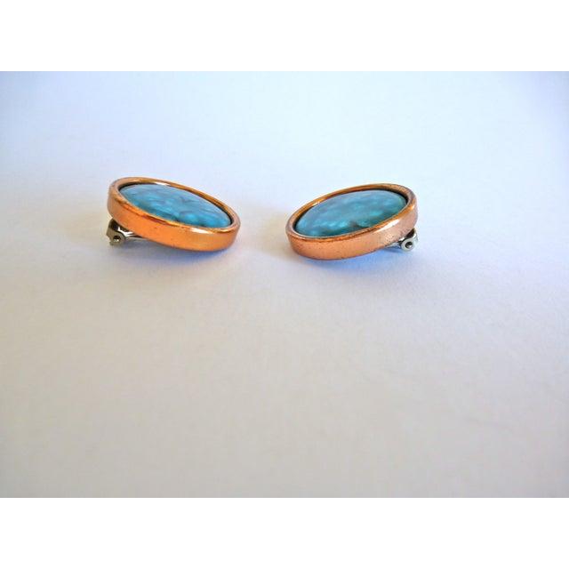Image of Copper and Enamel Earrings