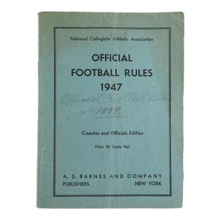 1947 Official Football Rules Ncaa Coaches Officials Edition