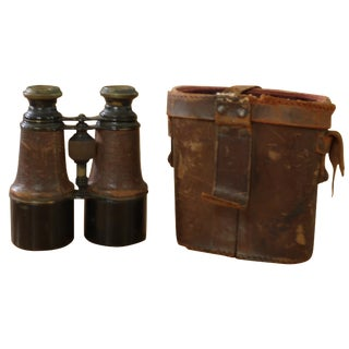 Leather Binoculars & Case