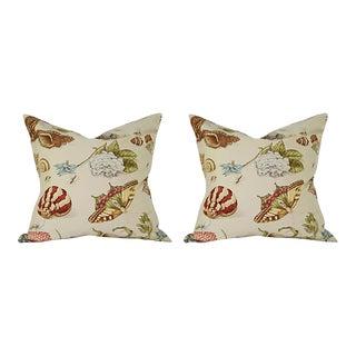 "Custom Italian Linen ""On the Shore"" Pillows - A Pair"