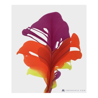 Abstract Floral Daphne Painting on Paper