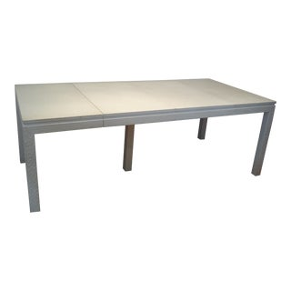 Karl Springer Faux Crocodile Leather Dining Table