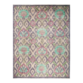 """Suzani Hand Knotted Area Rug - 8' 1"""" X 10' 5"""""""