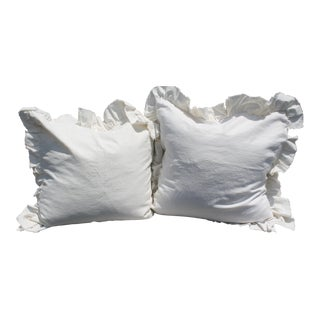 Off-White European Linen Pillows - A Pair