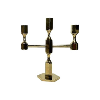 Swedish Brass Candelabra by Gusum Metallslojden