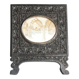 Anglo Indian Miniature of Palace room in original frame