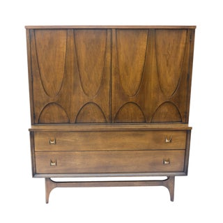 Mid-Century Brasilia Broyhill Highboy Dresser