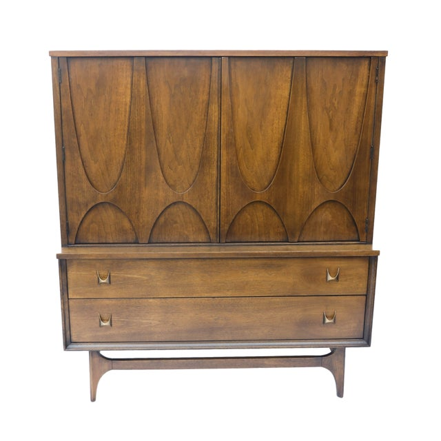 Mid-Century Brasilia Broyhill Highboy Dresser - Image 1 of 10