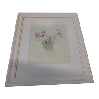 Reproduction Floral Watercolor Print