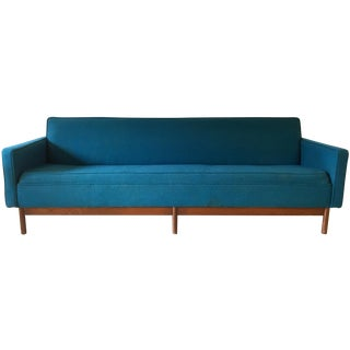 Vintage Lawrence Peabody Modern Sofa in Blue