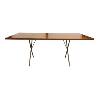 Modernica Laminate X-Leg Steel Based Dining Table or Desk