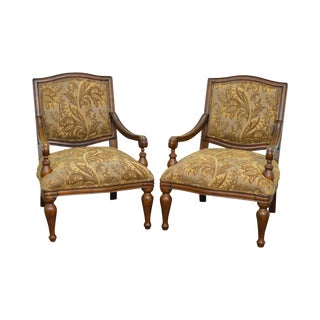 Best Chairs Inc. Quality Pair of French Louis XV Style Fauteuils Chairs