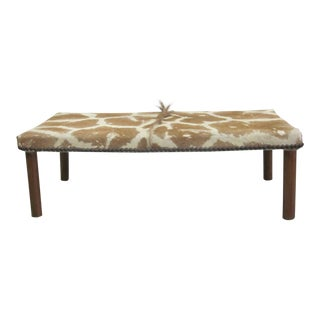 French 1930s Modernist Bench Covered in Giraffe Skin