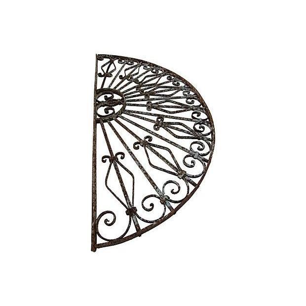 Mediterranean Architechtural Wrought Iron Arch - Image 2 of 6