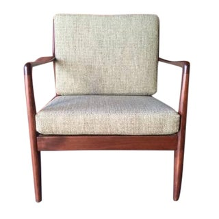 Mid Century Danish Walnut Lounge Chair by Dux