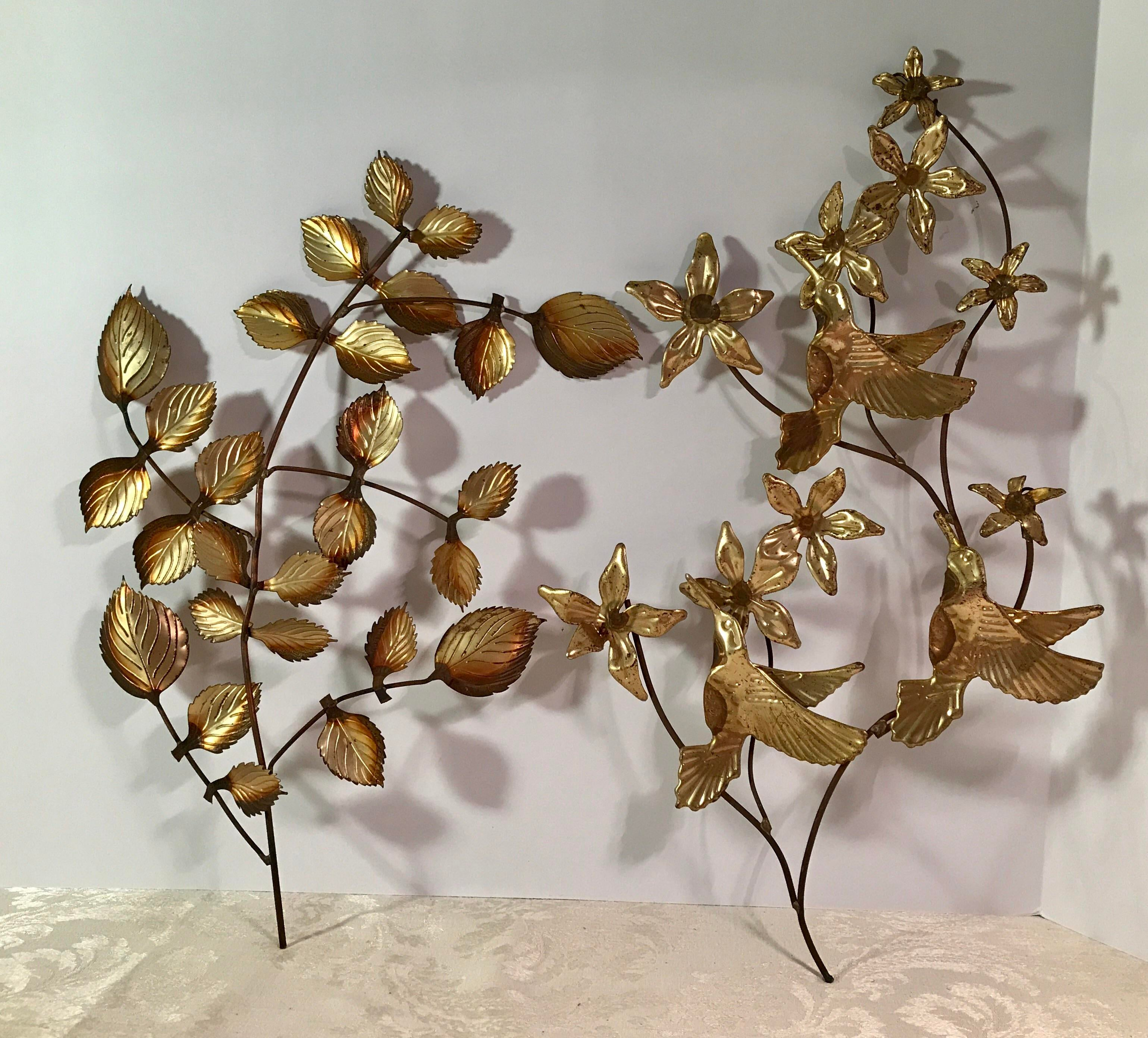 Mid Century Metal Leaf Wall Art   A Pair   Image 2 Of 9 Part 78