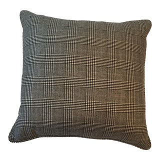Classic Ralph Lauren Plaid Black and Beige Pillow