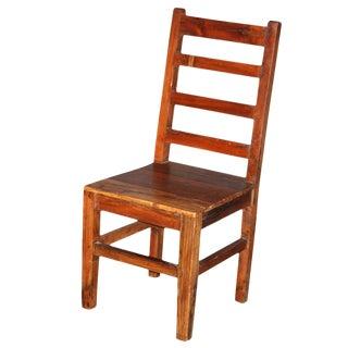 Teak Primitive Ladderback Chair