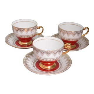 English Cups & Saucers - Set of Three