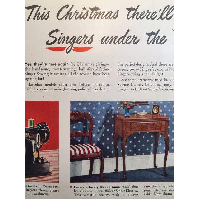 1946 Vintage Singer Sewing Ad - Image 3 of 4