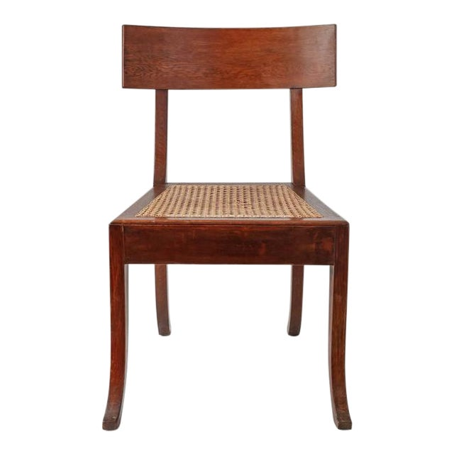 Image of Ole Peter Momme Oak and Cane Klismos Chair, Denmark, 1880s
