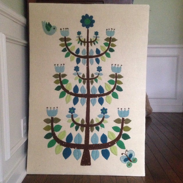 Vintage Tree of Life Textile Wall Art - Image 2 of 11