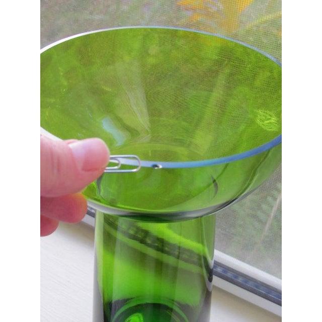 Vintage Scandanavian Green Art Glass Centerpiece - Image 5 of 6