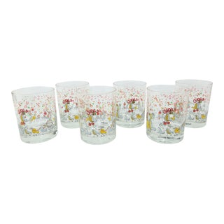 1970's Neiman Marcus Holiday Cocktail Glasses - Set of 6