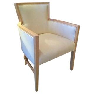 Helen Cream Vinyl Art Deco Armchair