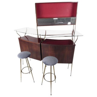 Mid-Century Modern Italian Bar in the Style of Gio Ponti