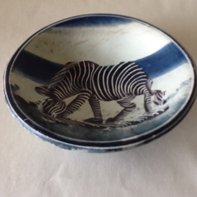 African Zebra Trinket Tray - Image 11 of 11