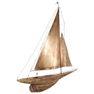 C. Jere Style Mid-Century Sailboat Wall Art