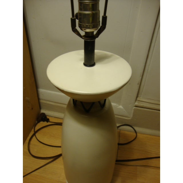 Rembrandt Style Matte White Pottery Lamp - Image 3 of 10