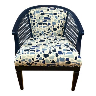 Navy Barrel Chair