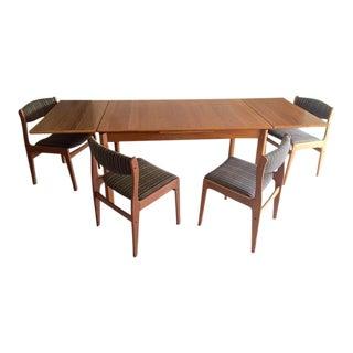 Danish Teak Dining Room Table Set