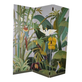 Maitland Smith Hand Painted Jungle Room Divider/Screen