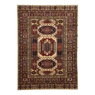 Caucasian Shirvan Wool Handmade Area Rug - 6'0 X 8'9