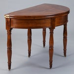 Image of 19th Century French Walnut Flip Top Game Table