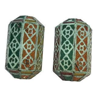 Multicolor Moroccan Wall Lamps - a Pair