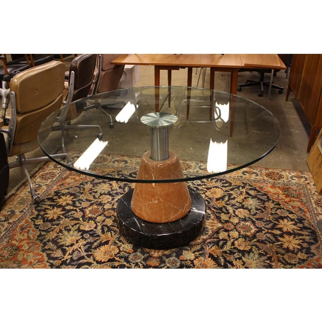 B&B Italia Marble Base Dining Table - Image 2 of 7