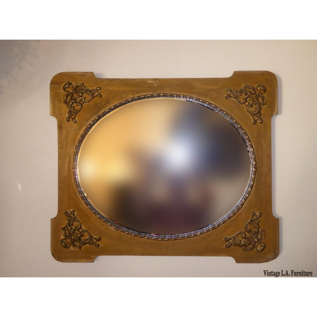 Antique Victorian Style Gold Gilt Floral Carved Wood Wall Mirror - Image 2 of 11